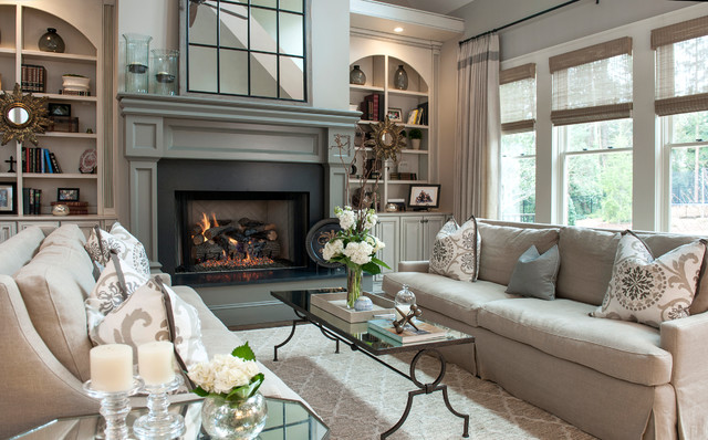 Peachtree Corners Residence transitional-living-room