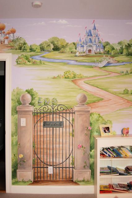 Princess Castle Mural Traditional Bedroom Boston