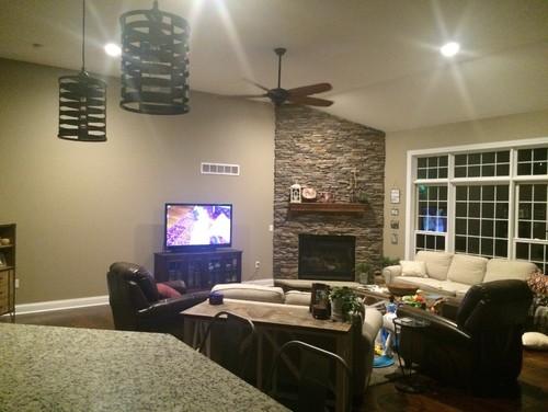 Corner Fireplace Amp Living Room Furniture Placing