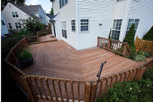 Before And After Wrap Around Deck Makeover Featuring Trex