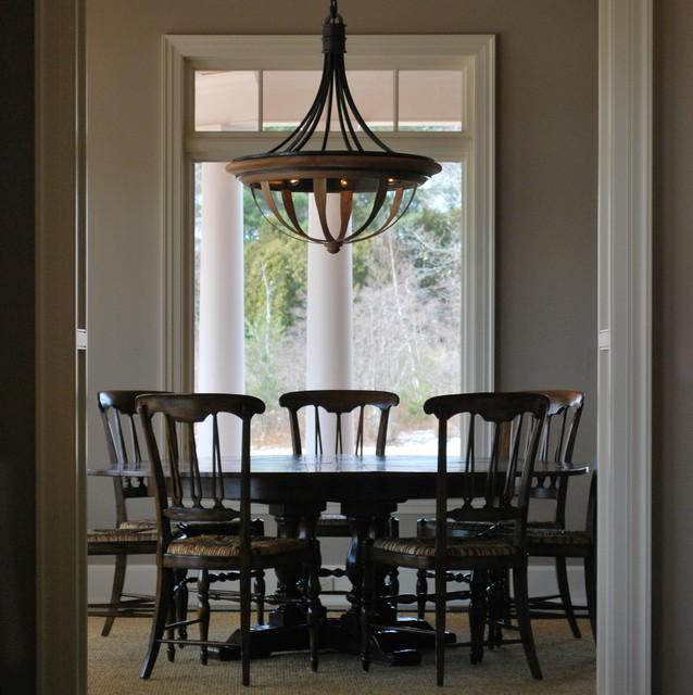 Custom Chandelier Traditional Dining Room