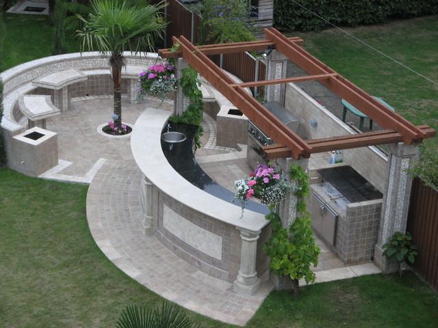 Bespoke Outdoor Entertainment Area Modern Patio