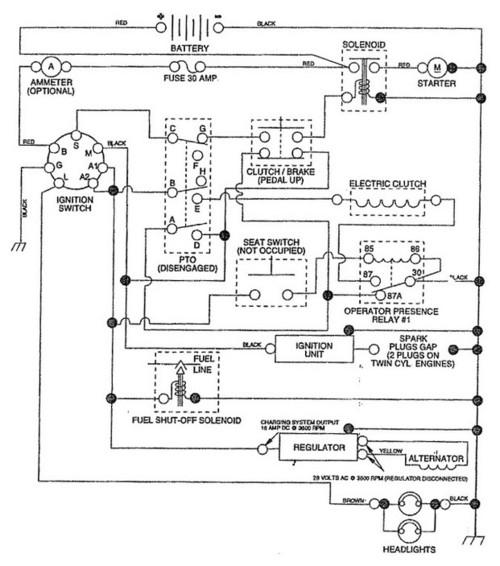Tractor Schematic Wiring Craftsman Lawn