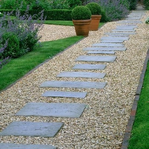 Can I Build A Path With Pea Gravel And Pavers On A Slope