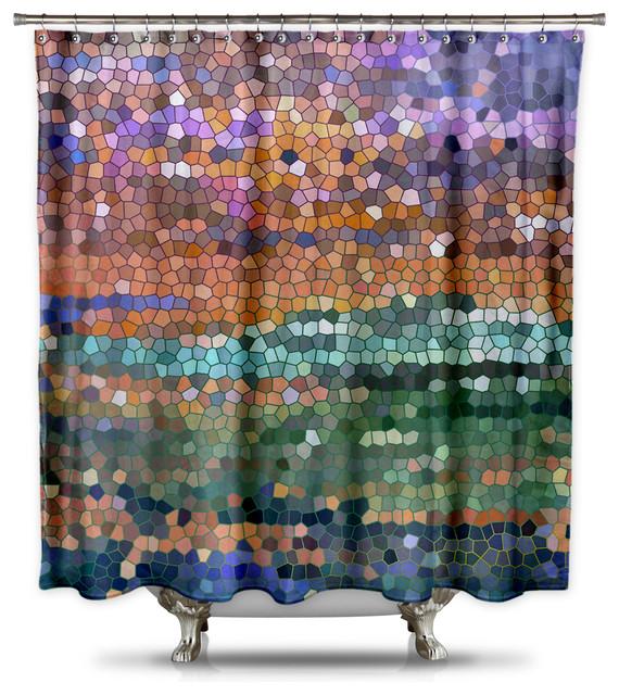 terry cloth shower curtain