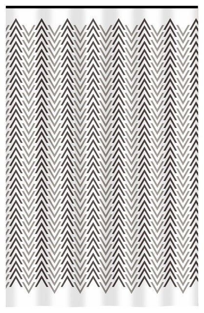 extra long shower curtain 72 x 78 gamma beige brown and taupe chevron