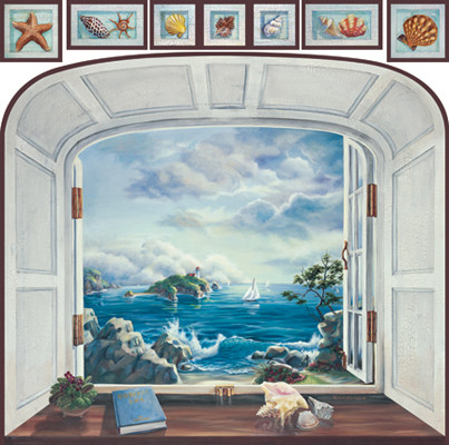 Home Decorating Idea With Wall Murals Trompe L Oeil Can Be Used To Create