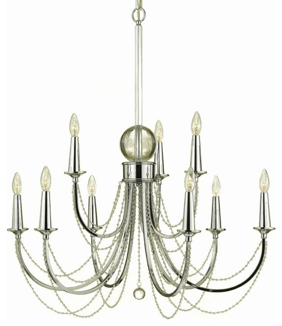 Af Lighting Candice Olson Shelby 9 Light Chandelier Transitional Chandeliers