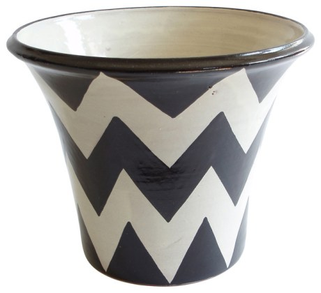 ZigZag Planter   Contemporary   Outdoor Pots And Planters   by     ZigZag Planter  Black White
