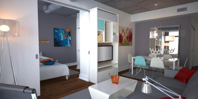 Cool Modern Condo Design In 600 Square Feet