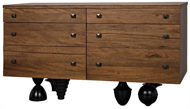 60 long dresser dark walnut unique black metal legs six drawers two sizes