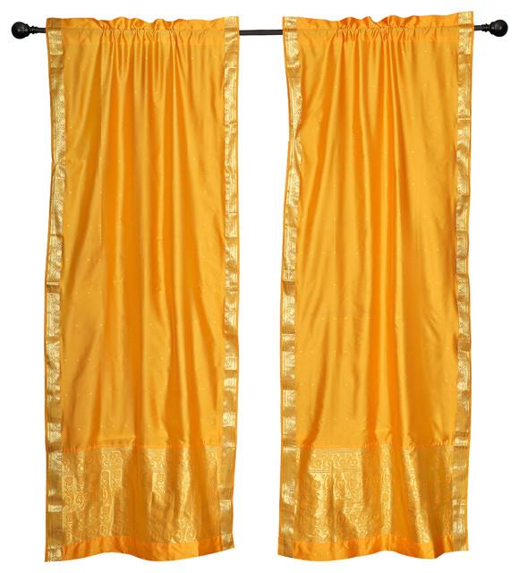 2 boho red purple indian sari curtains