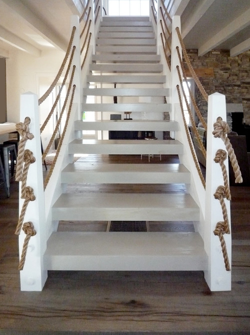 coastal style staircase handrail design