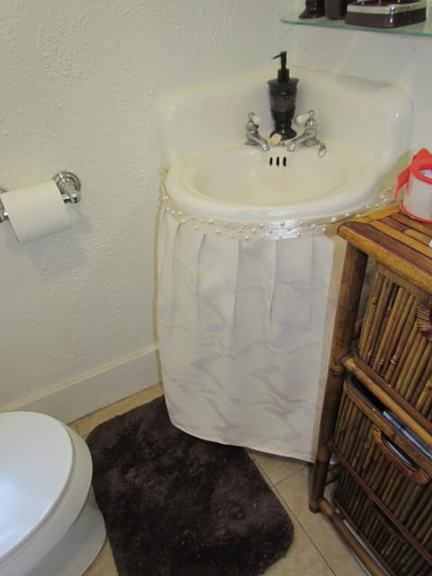Bethroom Sink Skirt After Traditional Bathroom Los