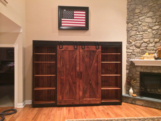 Entertainment Cabinet With Barn Doors