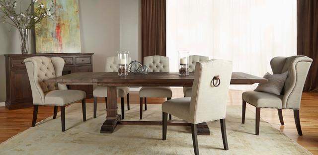 Hudson Rustic Java 5 Piece Formal Dining Set Rustic Dining Room Miami By El Dorado Furniture