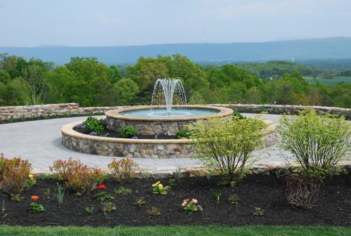 Two Tiered Garden Entrance Fountain
