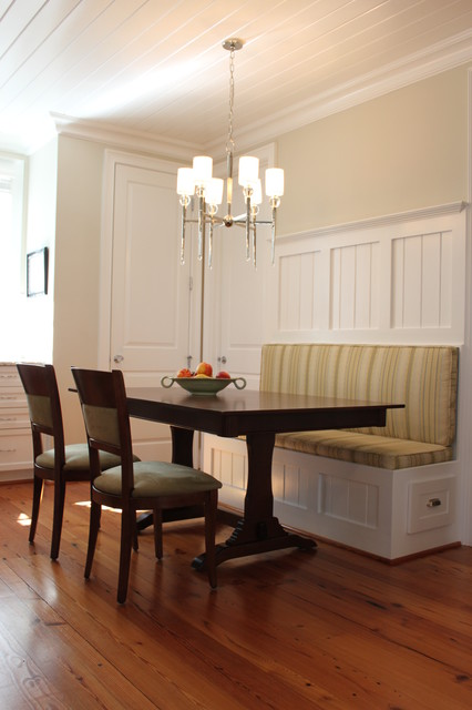 Kitchen Banquette Traditional Kitchen Raleigh By