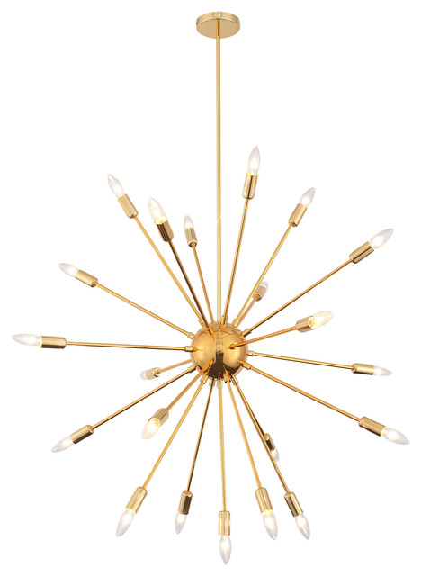 Satellite Chandelier Gold Midcentury Chandeliers