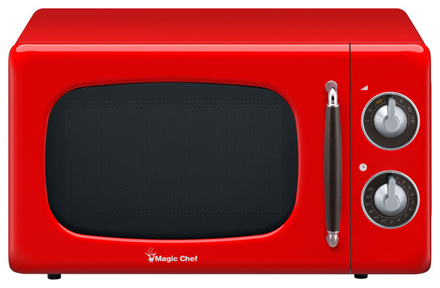 0 7 cu ft 700w retro countertop microwave oven red