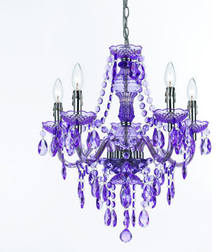 Af Lighting 8526 Angelo Home Purple 5 Light Mini Chandelier Traditional Chandeliers