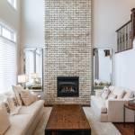 Whitewashed Brick Fireplace Houzz
