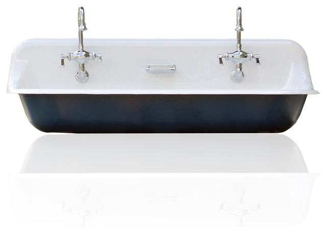 Large 48 Kohler Farm Sink Cast Iron Porcelain Trough Sink
