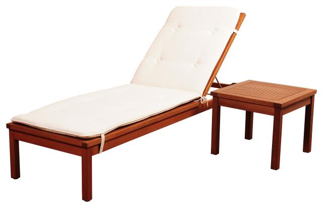 amazonia washburn 2 piece lounge set eucalyptus wood ideal for patio