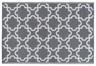 dii gray lattice outdoor rug 4 x 6 mediterranean outdoor rugs by design imports houzz