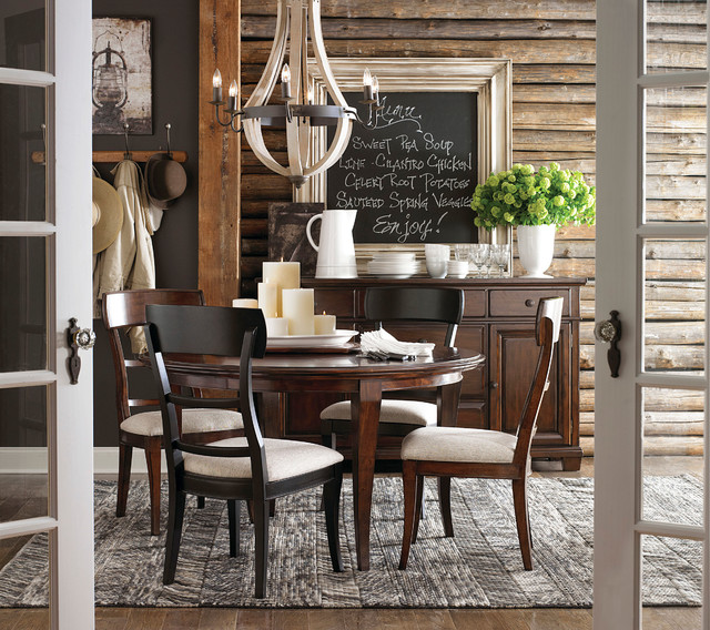 Highlands Round Dining Table By Bassett Furniture