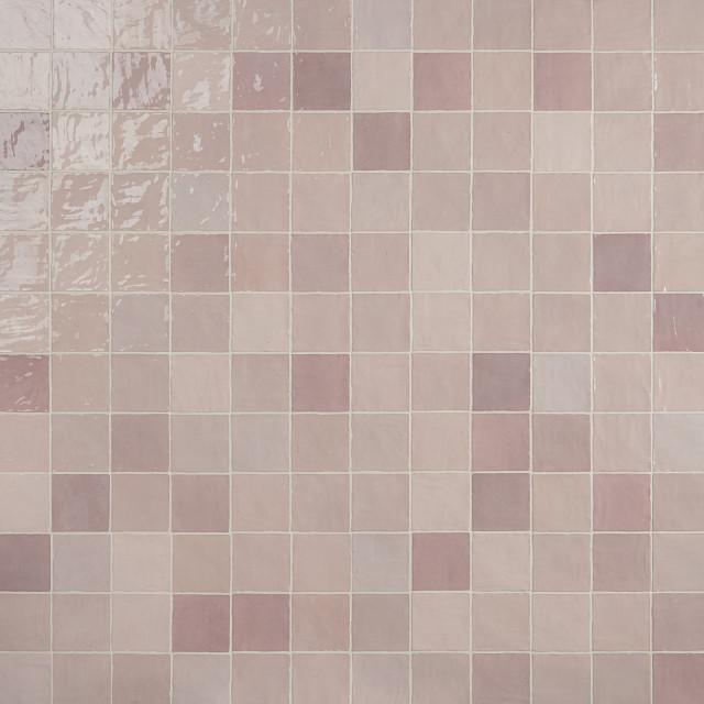 kingston 4 in x 4 in polished ceramic tile pink