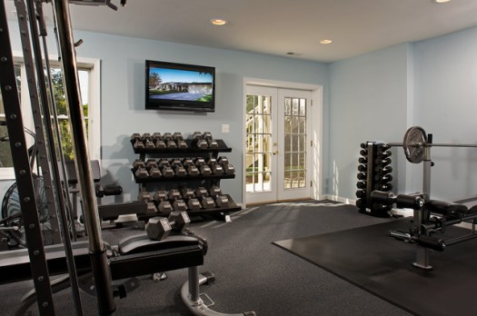 Interior Es Traditional Home Gym