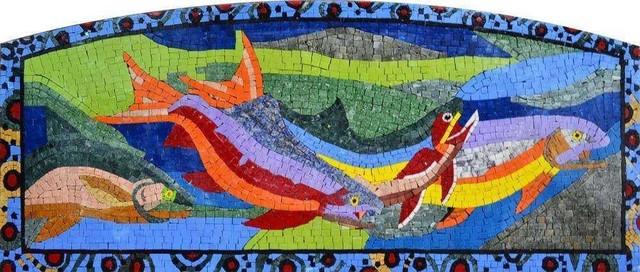 colorful nautical mosaic on sale 19 x48