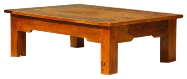 beloit 100 handcrafted rectangular solid wood coffee table