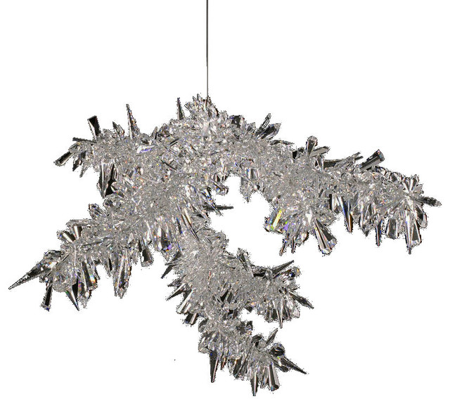 Clear Ice Branch Crystal Chandelier Lamp 28 Width X 23 Height