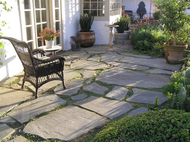 French Patio Amp Slate Stepping Stones And Garden Walk With
