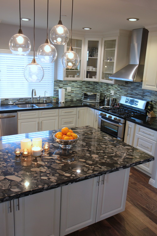 Black Marinace Granite Kitchen Countertop Ideas