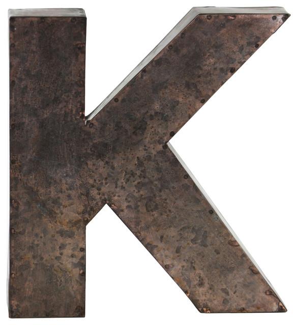 Metal Wall Art Letter K
