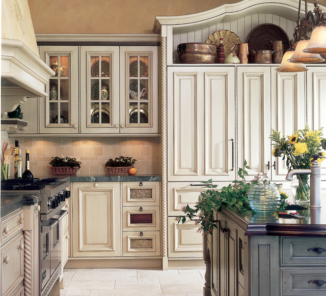 French Cabinets Country Kitchen Glaze