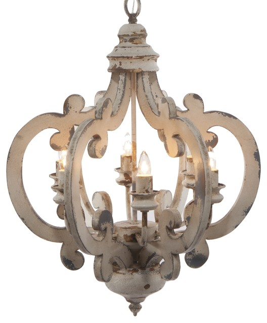 Crown Wood And Metal Chandelier Farmhouse Chandeliers