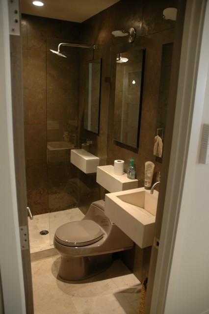 Contemporary condo bath - Modern - Bathroom - Chicago - by ...