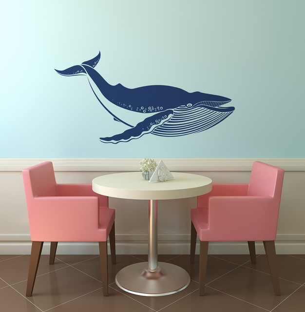 Giant Blue Whale Removable Vinyl Wall Art Decoration