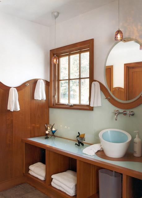 Prides Pool House Modern Bathroom Boston By