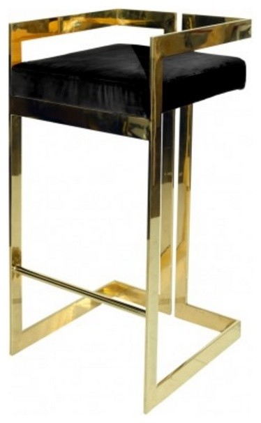Worlds Away Hearst Barstool Contemporary Bar Stools