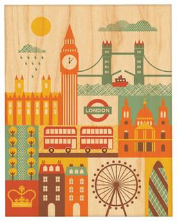 "London, Unframed, 8""x10"", Small"