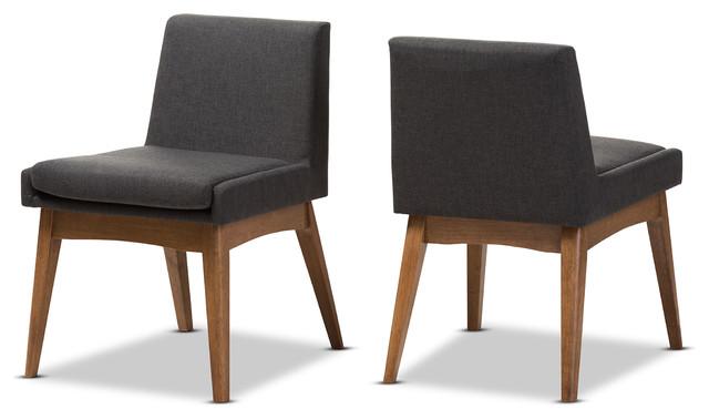 Nexus Mid-Century Modern Dark Gray Fabric Dining Side
