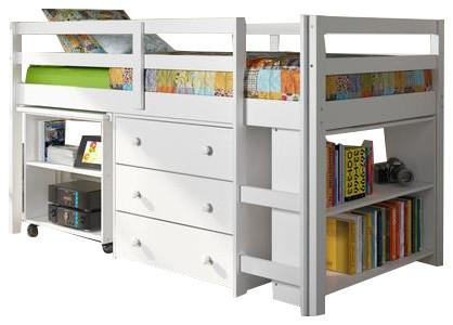 kids furniture set with twin loft bed desk dresser bookcase in one