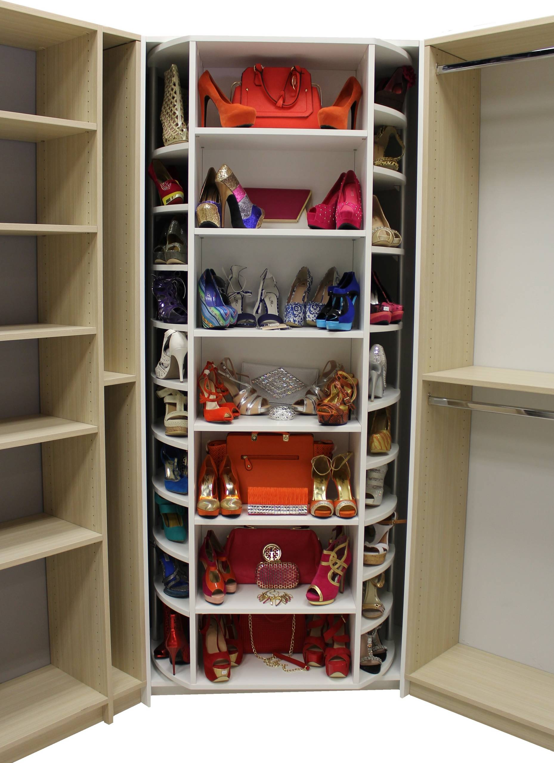 lazy susan shoe rack ideas houzz