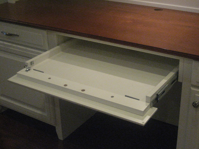 Keyboard Drawer With Drop Down Front