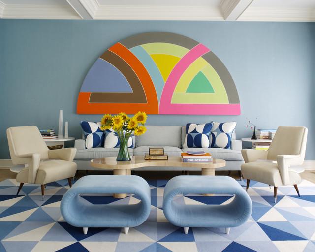 Hamptons Modern anni-50-soggiorno